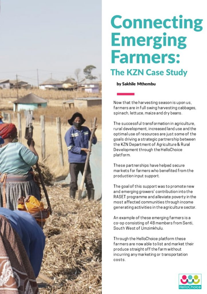 Connecting Emerging Farmers by Sakhile Mthembu