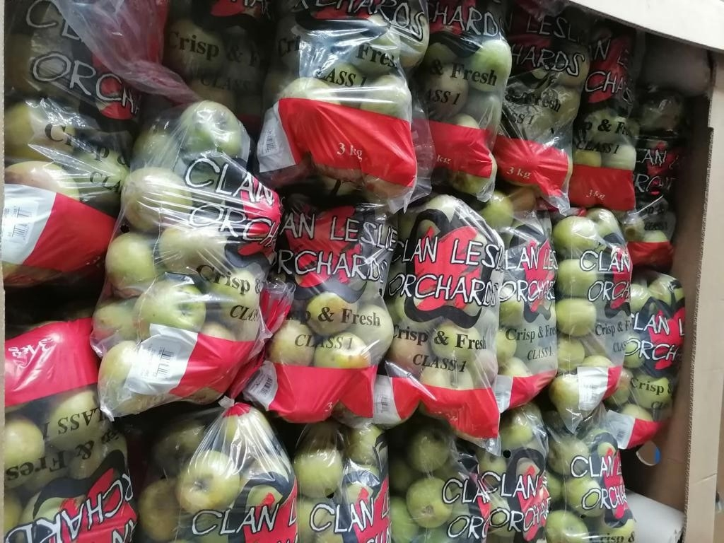 Bag of apples in a bag