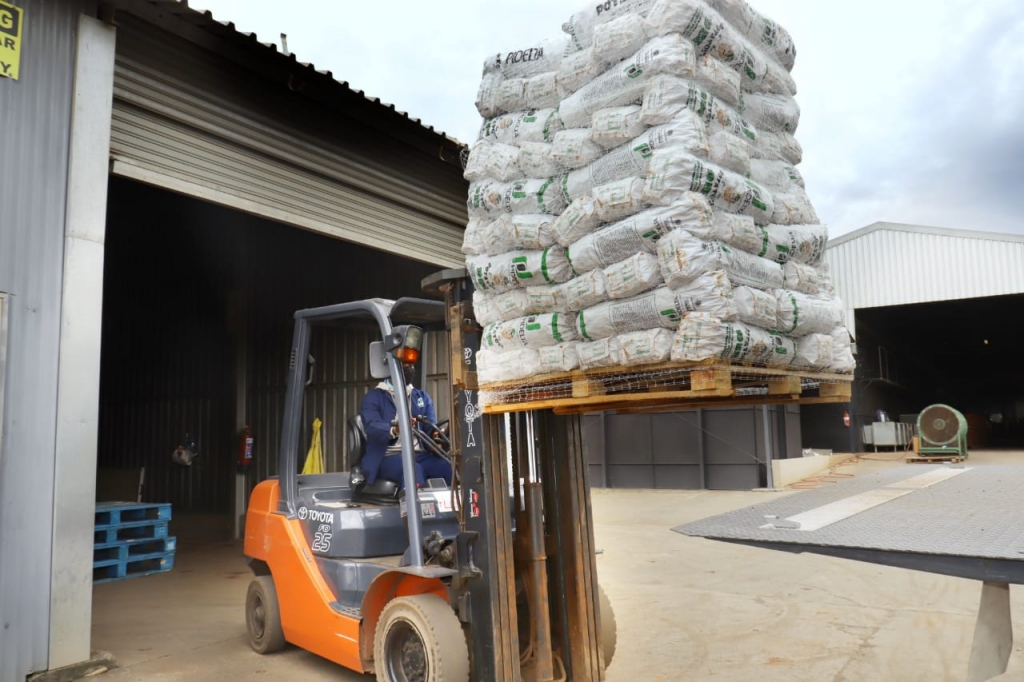 Fork Lift with Potato's